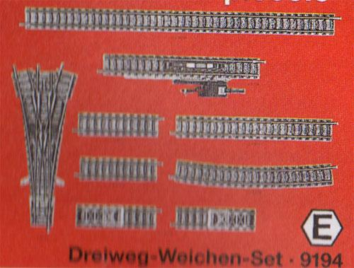 Fleischmann N - 9194 Kit d'aiguillages triples