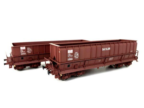 2 wagons tomberaux DM , SACILOR - LS MODELS 30800