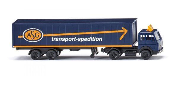 Camion semi-remorque ASG échelle N - WIKING 095003