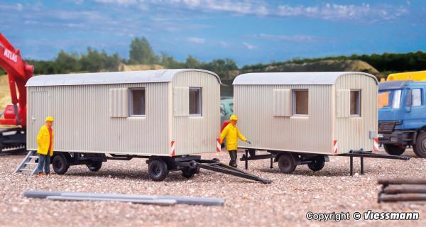 lot de 2 roulottes de chantier - KIBRI 10278