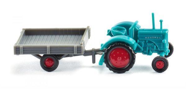 Tracteur + remorque -échelle N - WIKING 095304