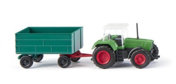 Tracteur + remorque échelle N - WIKING 096002