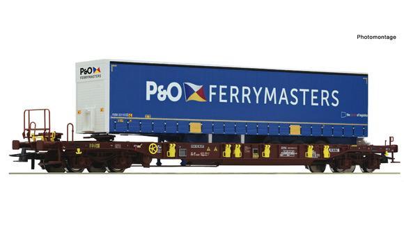 Wagon avec remorque  P&O - HO - ROCO 76235