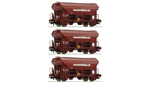Wagon  céréalier Transcéréales ( à l'unité) - HO - ROCO 76033
