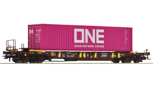 Wagon porte - conteneur  ONE - HO  - ROCO 76234