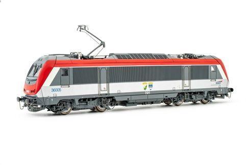 Locomotive électrique BB36005 rouge/gris - Digital sound - HO - JOUEF HJ2397S