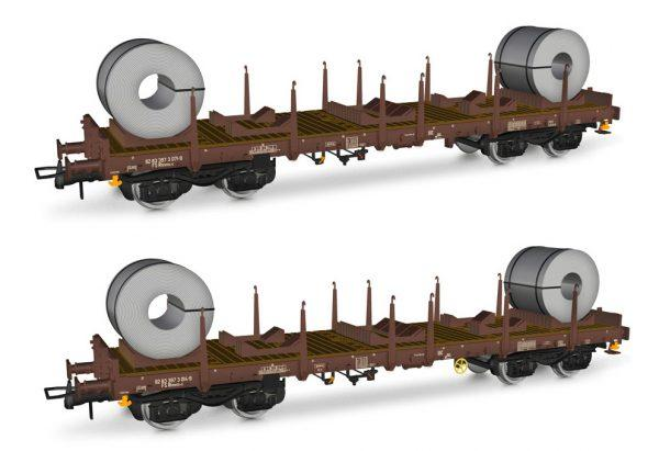 2 wagons porte- coils  - HO - RIVAROSSI HR6478