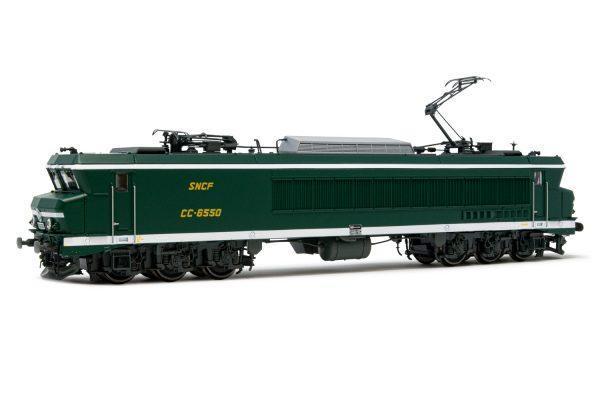 Locomotive électrique CC6550 - livrée vert/ blanc - Analogique - JOUEF HJ2371