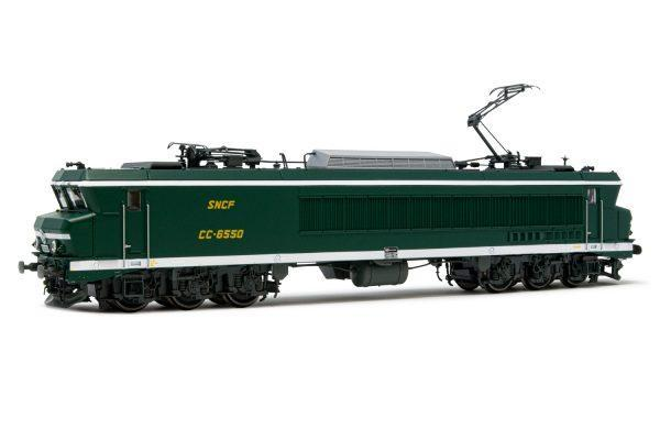 Locomotive électrique CC6550 - livrée vert/ blanc -Digital sound  - JOUEF HJ2371S